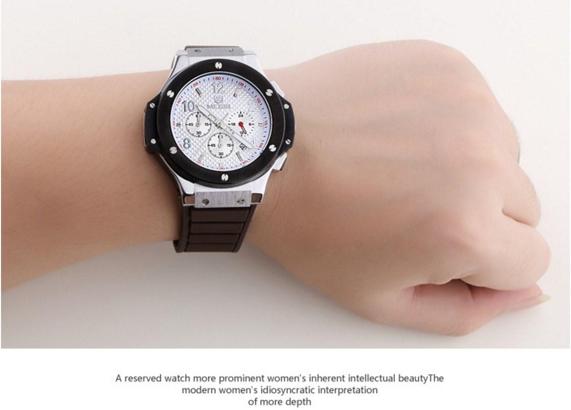 Водонепроницаемые спортивные кварцевые часы MEGIR 3002G (123-105) - 13