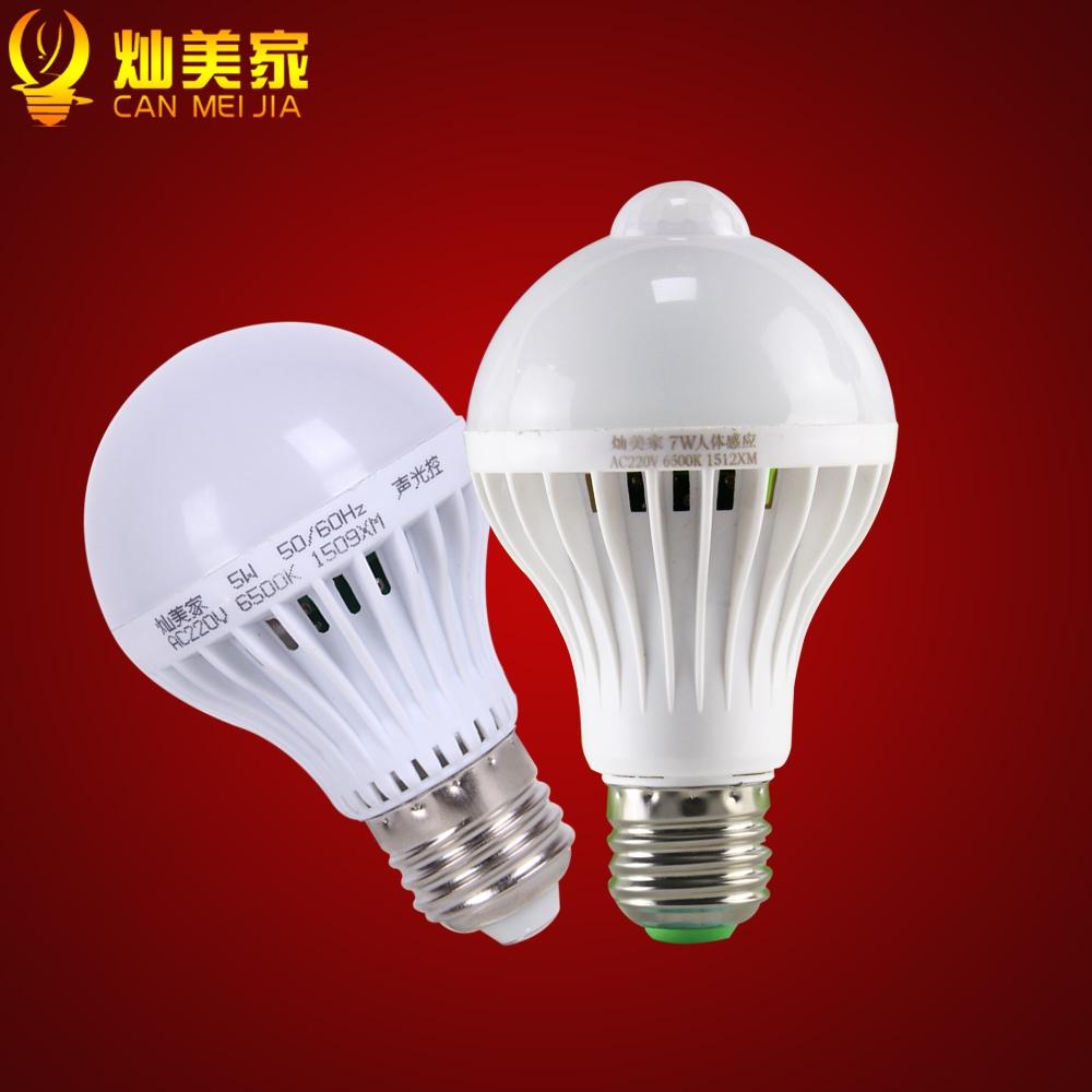 Светодиодные лампы LED-E27 (с датчиком тепла и автоматические - включение от звука) (101-207) - 14