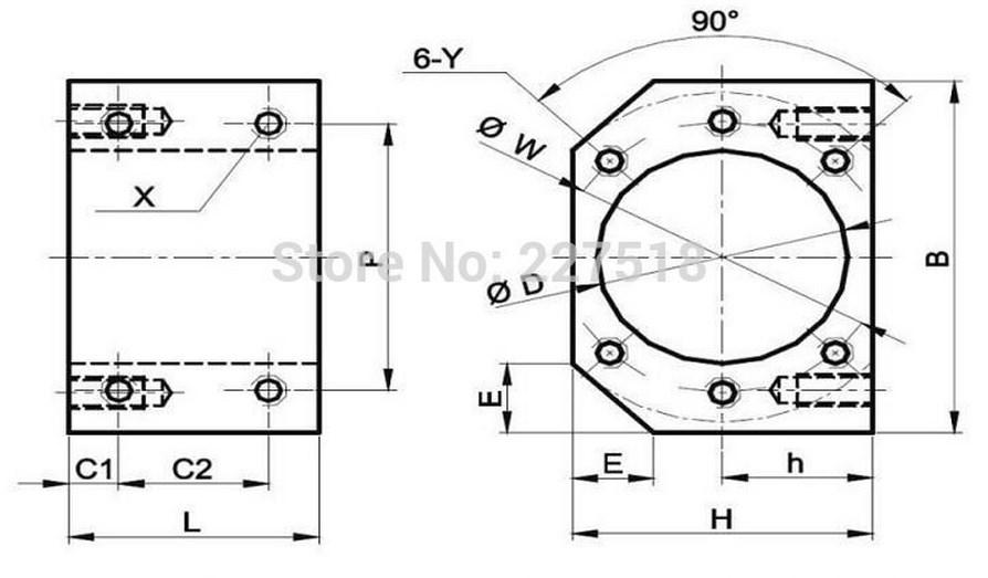 Комплектующие для ЧПУ станка SFU1605 (110-100) - 11