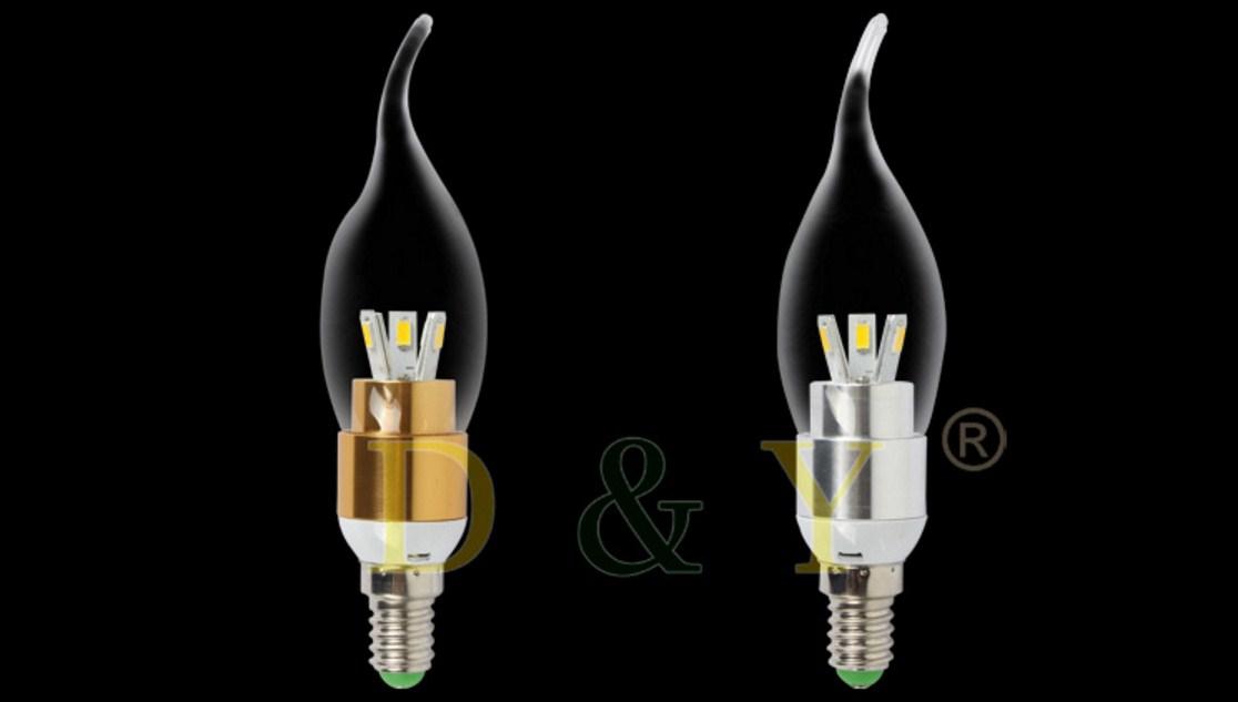 Лампа пожаробезопасная с металлическим корпусом LED-E14-5W-2835 (101-223) - 9