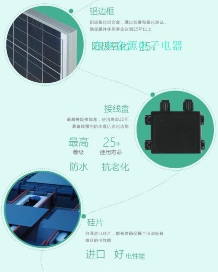 Поликристаллическая панель солнечных батарей 50W/12V (120-103) - 5