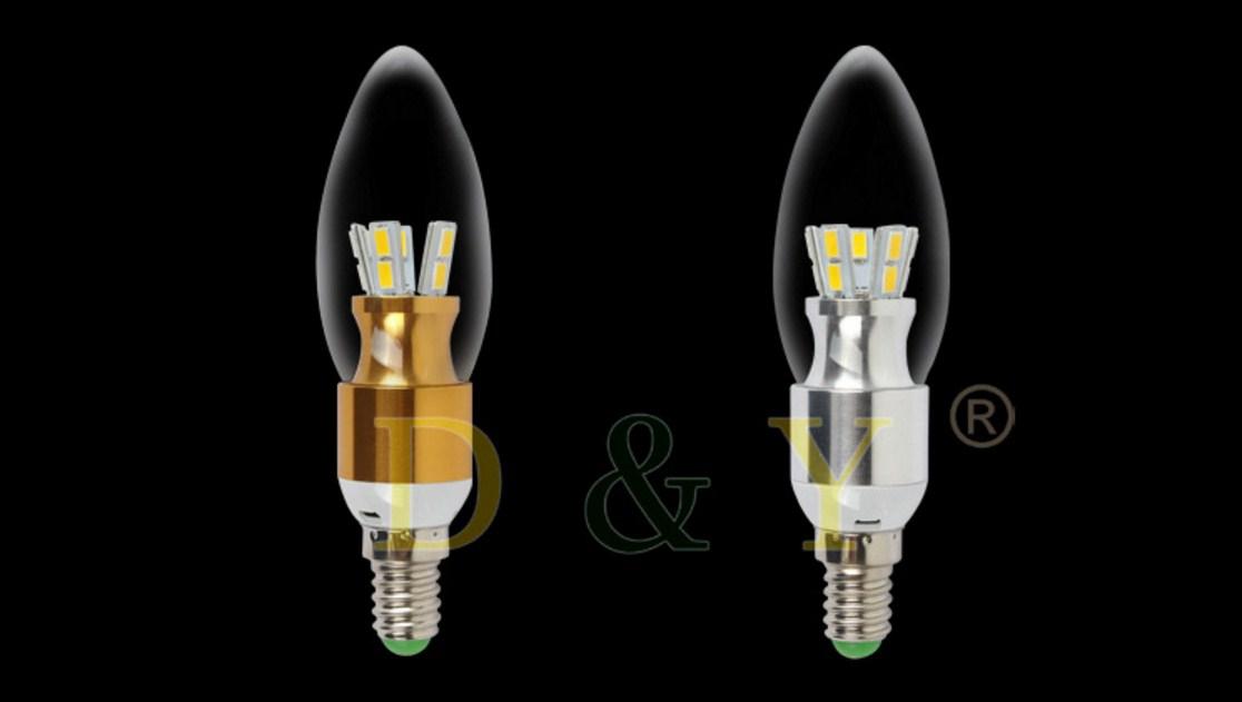 Лампа пожаробезопасная с металлическим корпусом LED-E14-5W-2835 (101-223) - 15