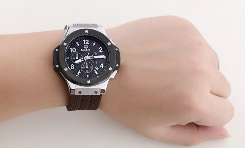 Водонепроницаемые спортивные кварцевые часы MEGIR 3002G (123-105) - 3