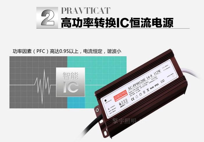 Светодиодный светильник прожектор LED Qingyu 28W-196W (115-106) - 7