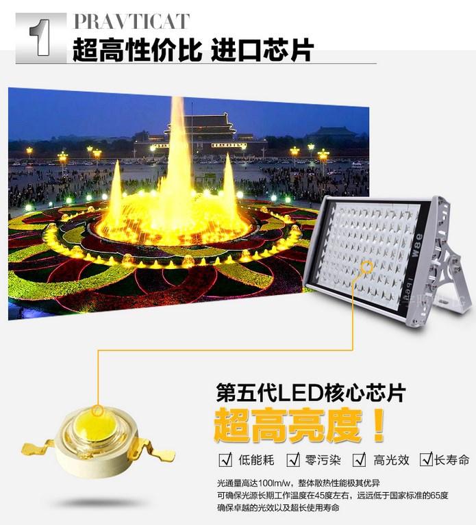 Светодиодный светильник прожектор LED Qingyu 28W-196W (115-106) - 6