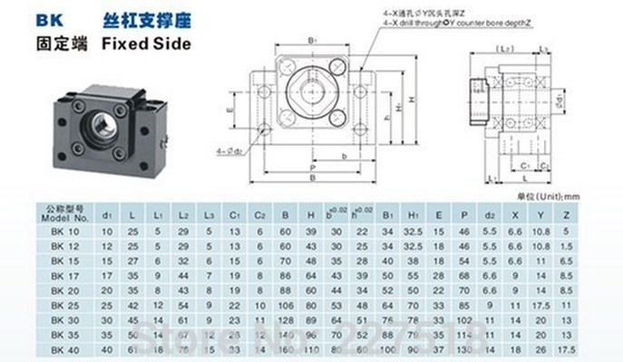 Комплектующие для ЧПУ станка SFU1605 (110-100) - 8