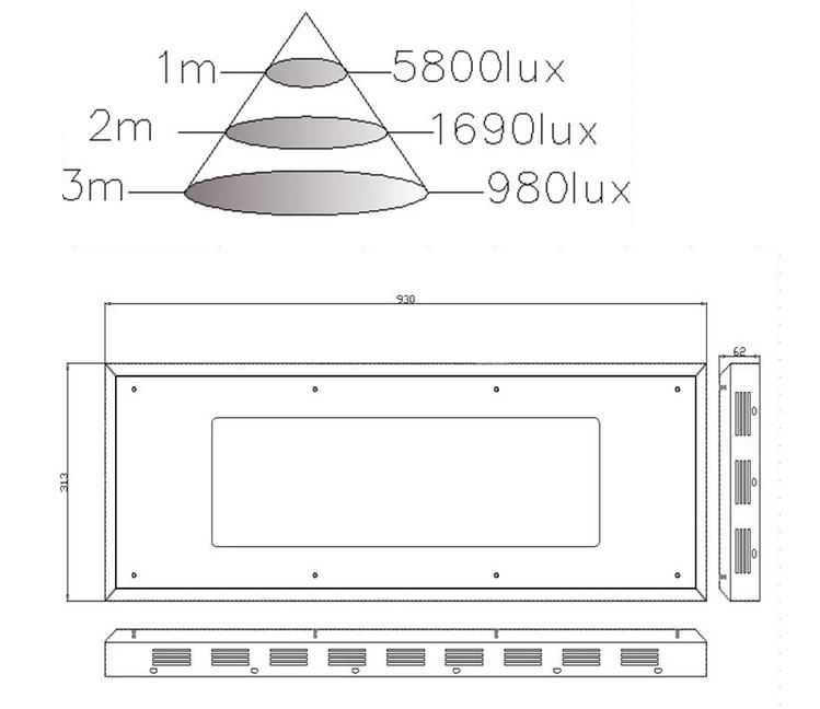 Светодиодная лампа для роста растений HYG05-200X3W-W (112-107) - 5