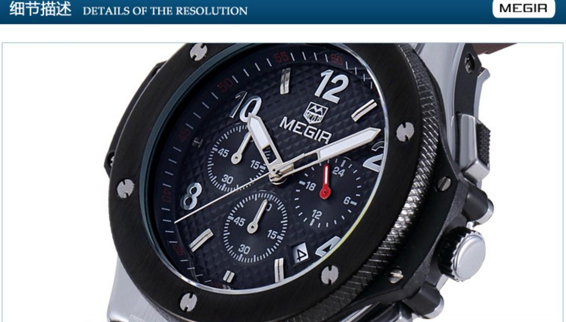 Водонепроницаемые спортивные кварцевые часы MEGIR 3002G (123-105) - 4