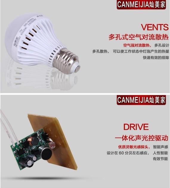 Светодиодные лампы LED-E27 (с датчиком тепла и автоматические - включение от звука) (101-207) - 2