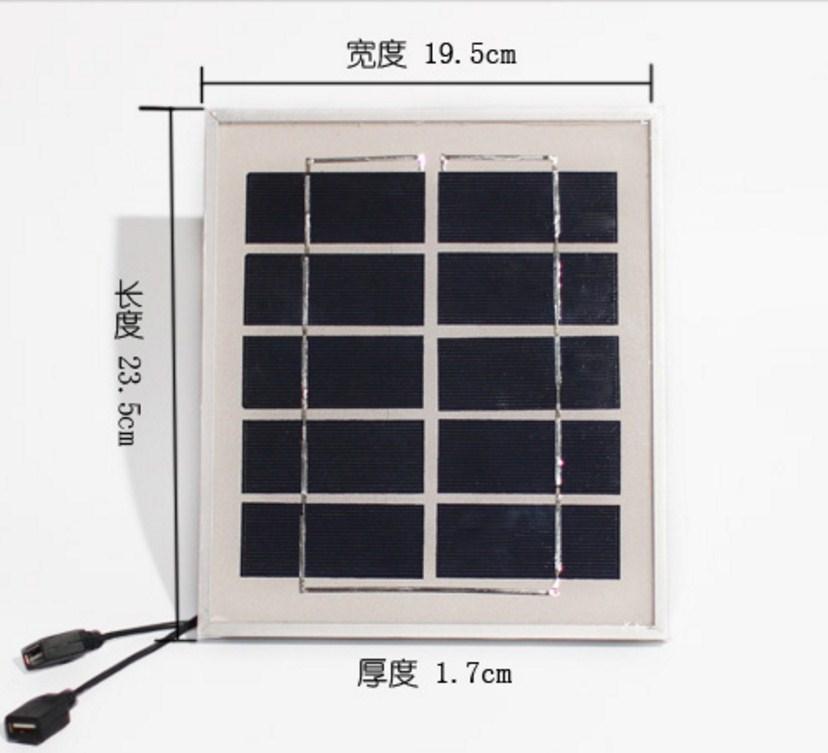 Фотоэлектрическая солнечная панель для зарядки телефонов 4W5V6V (120-107) - 6