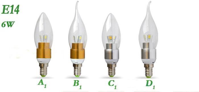 Энергосберегающие светодиодные лампы E12 / E14 / E27  - 3