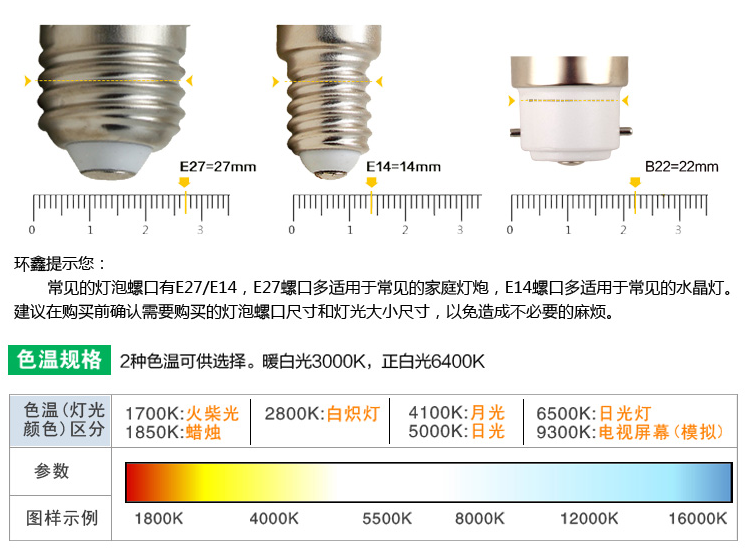 Светодиодные лампы LED-B22-E14-E27-5730 (101-201-2) - 1