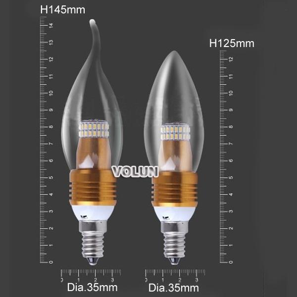 Энергосберегающие светодиодные лампы E12 / E14 / E27  - 4