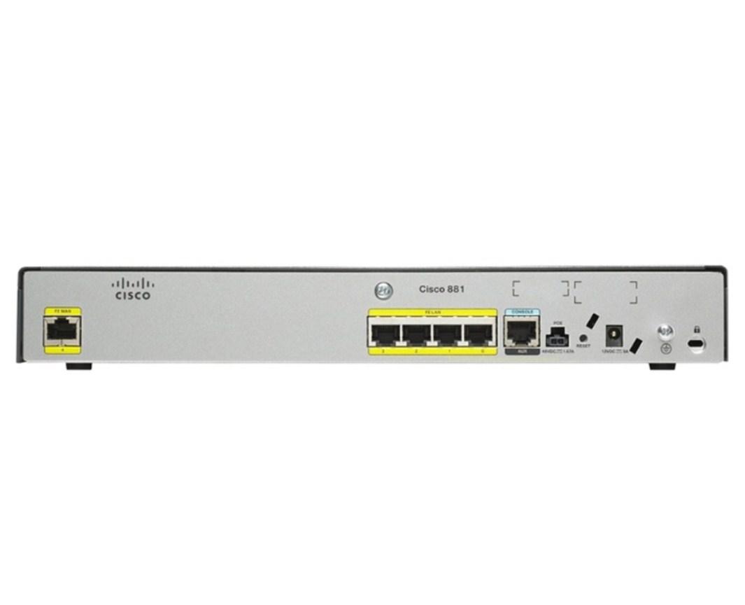 Маршрутизатор Cisco 881/K9 (134-217) - 1