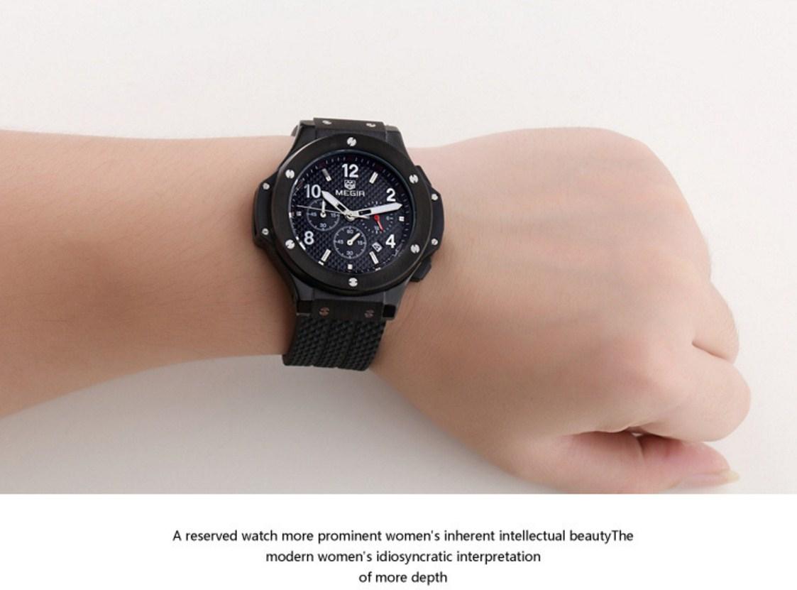 Водонепроницаемые спортивные кварцевые часы MEGIR 3002G (123-105) - 9