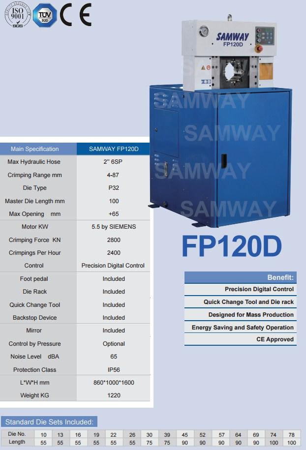 Обжимной станок РВД производственный - SAMWAY FP120D (108-164) - 2