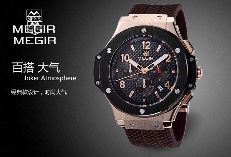 Водонепроницаемые спортивные кварцевые часы MEGIR 3002G (123-105) - 11