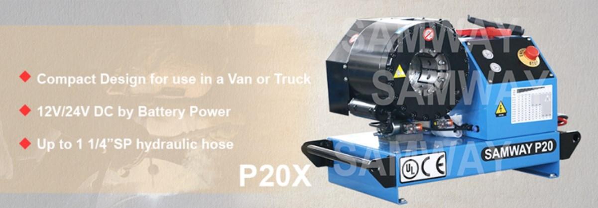 Обжимной станок РВД для передвижных фургона или тележки SAMWAY P20X 12/24V (108-203) - 2