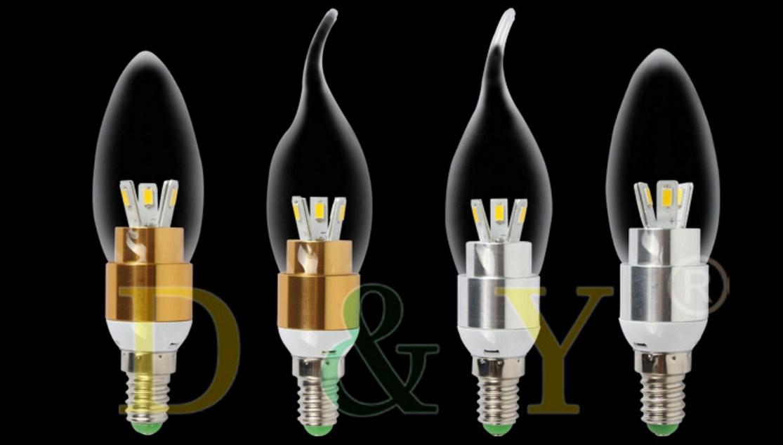 Лампа пожаробезопасная с металлическим корпусом LED-E14-5W-2835 (101-223) - 11