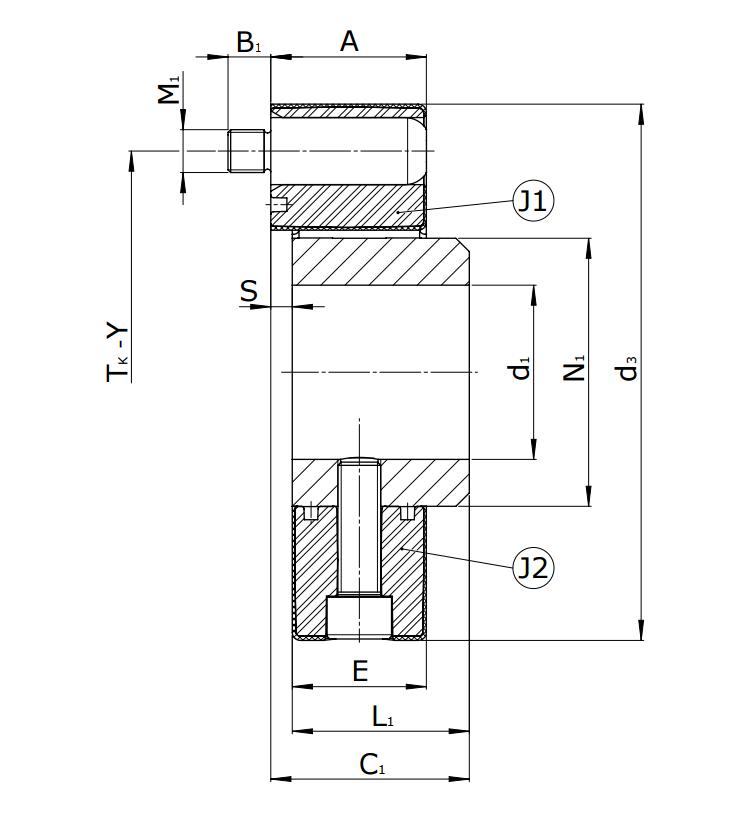 Муфты CENTAFLEX-A TYPE 1 /1–S (118-105) - 3