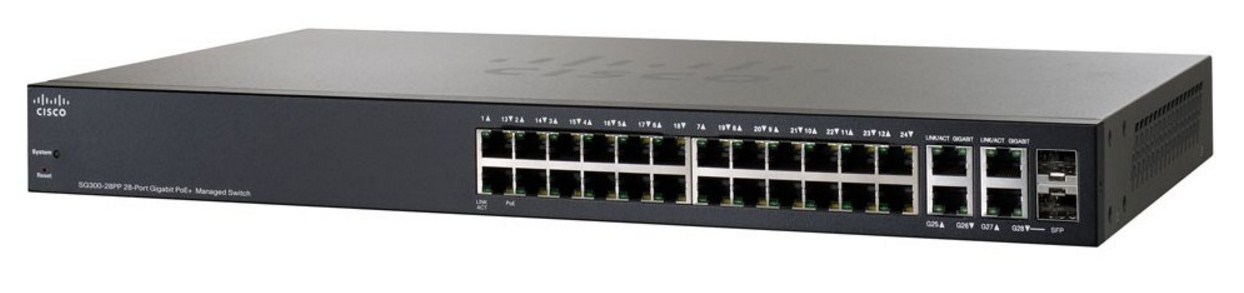 Маршрутизатор Cisco SG300-28PP (134-219) - 1