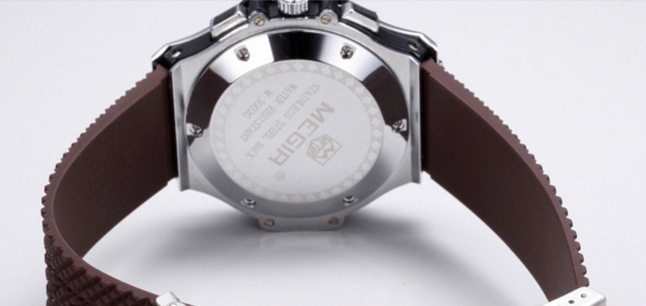 Водонепроницаемые спортивные кварцевые часы MEGIR 3002G (123-105) - 5