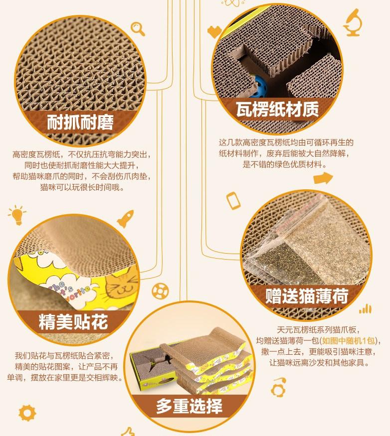 Коврик для кошки Tian Yuan Pet - WJ-ZB-005 (128-100) - 2
