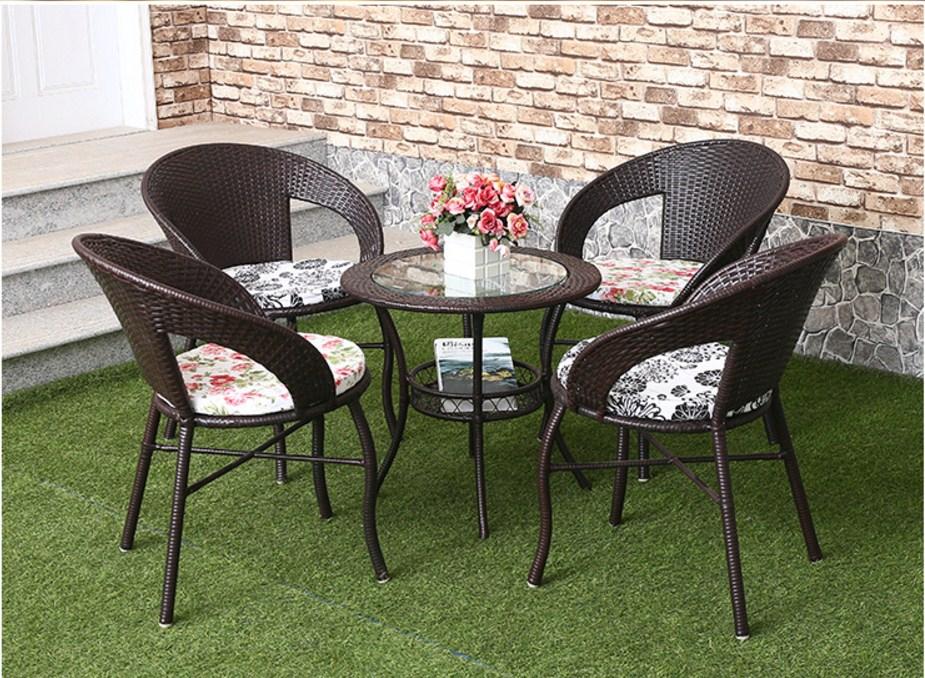Столик и четыре кресла из ротанга Sunco (132-103) - 10