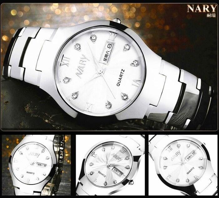 Водонепроницаемые мужские и женские кварцевые часы NARY 6020 (123-107) - 15