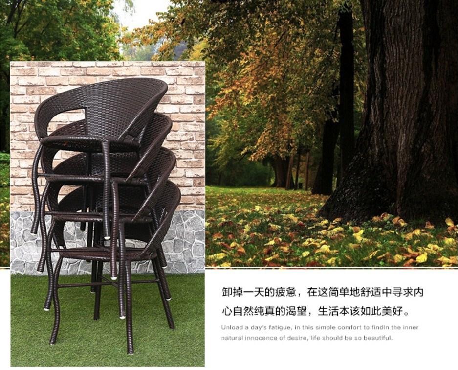 Столик и четыре кресла из ротанга Sunco (132-103) - 11