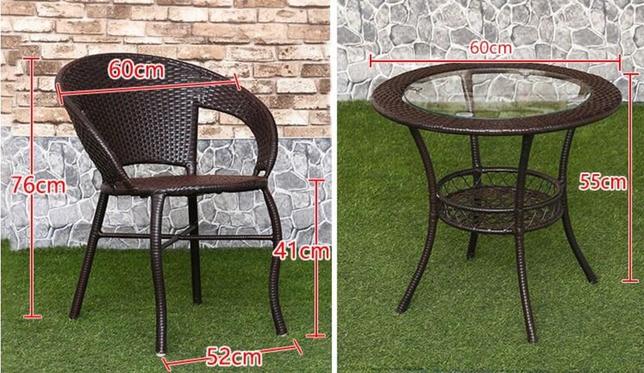 Столик и два кресла из ротанга Sunco (132-101) - 1