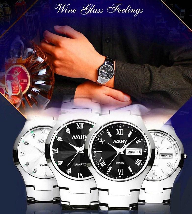 Водонепроницаемые мужские и женские кварцевые часы NARY 6020 (123-107) - 9