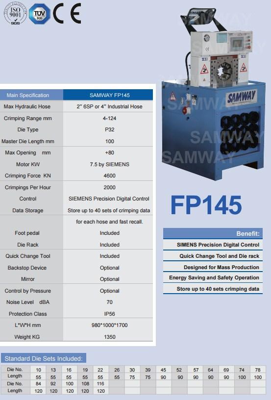 Обжимной станок РВД производственный - SAMWAY FP145 (108-162) - 1