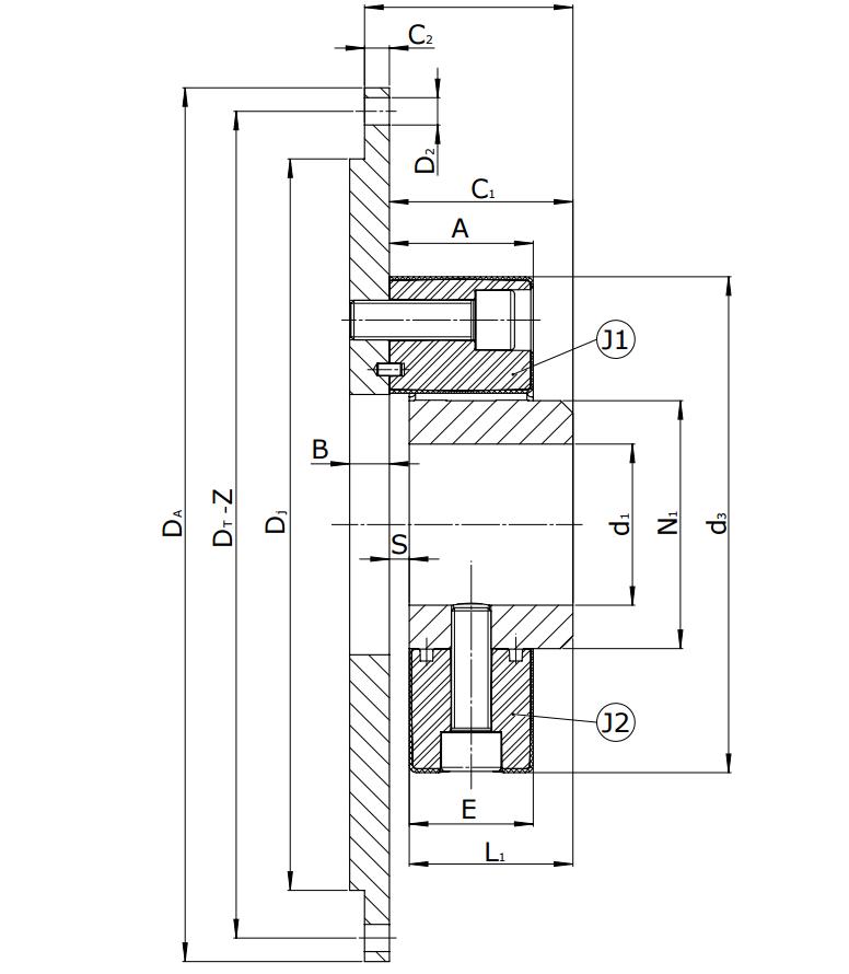 Муфты CENTAFLEX-A TYPE 3 /3–S (118-107) - 3