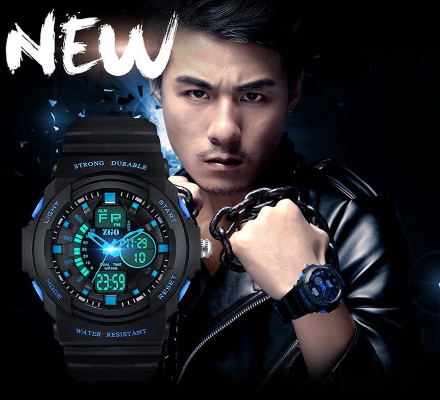 Водонепроницаемые электронные спортивные часы ZGO WATCH A316Z-X (123-108) - 1