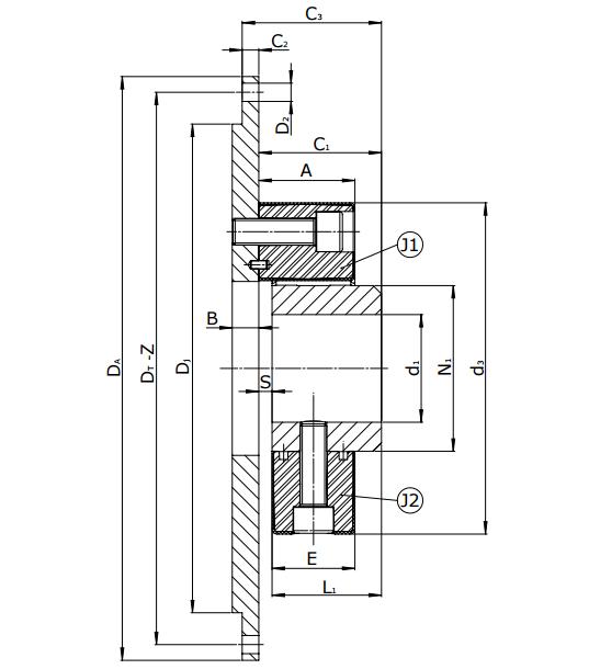 Муфты CENTAFLEX-A TYPE 3 /3–S (118-107) - 1