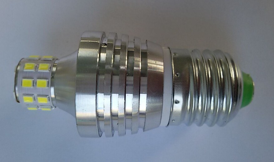 Лампа пожаробезопасная с металлическим корпусом LED-E27-5W (101-215) - 3