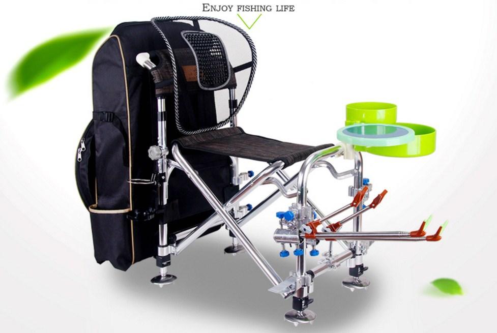 Многофункциональный портативный складной стул для рыбалки JILILAI (129-100) - 1