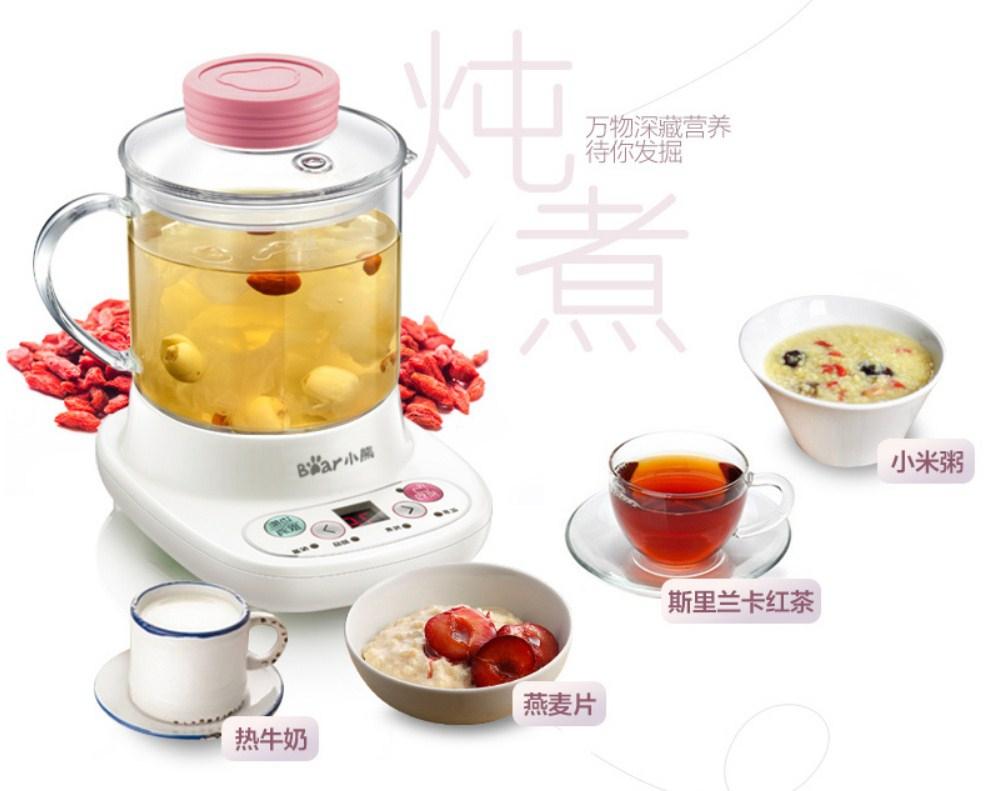 Многофункциональный электрический стеклянный чайник Bear YSH-A03U1 (119-109) - 11