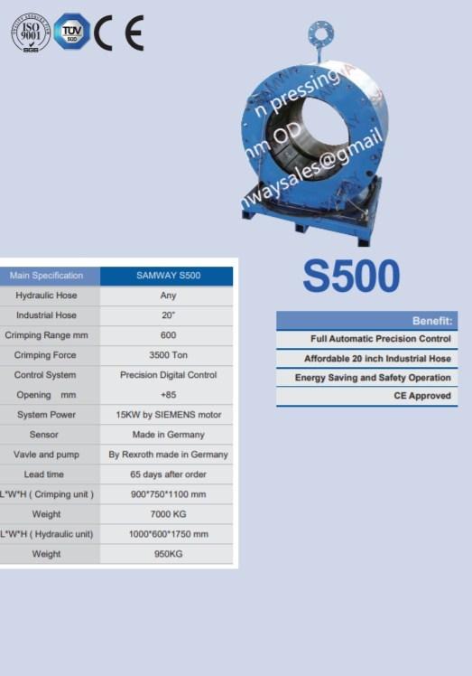 "Станок для обжима РВД 20"" SAMWAY S500 (108-211) - 1"