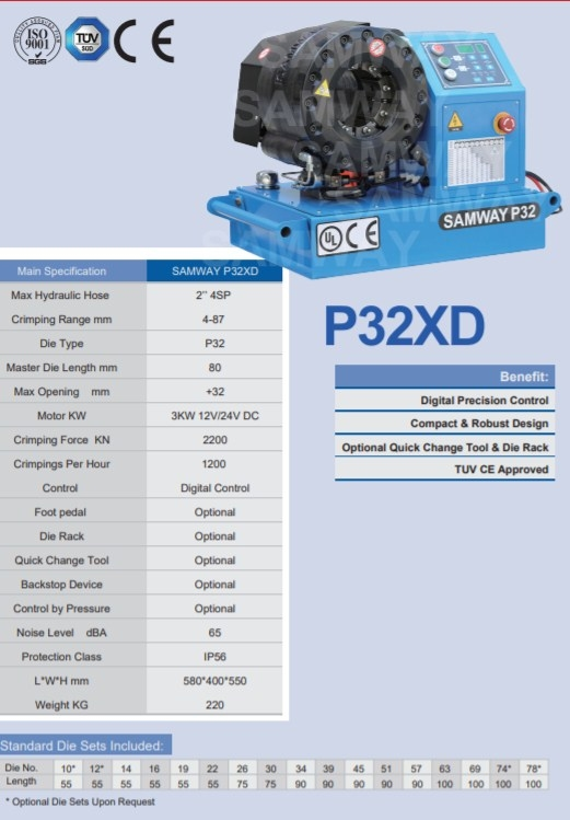 Мобильный станок для обжима РВД SAMWAY P32XD (108-216) - 2