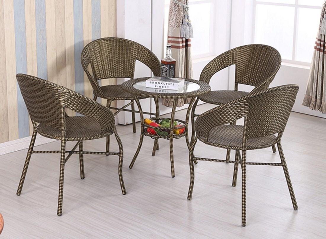 Столик и четыре кресла из ротанга Sunco (132-103) - 3