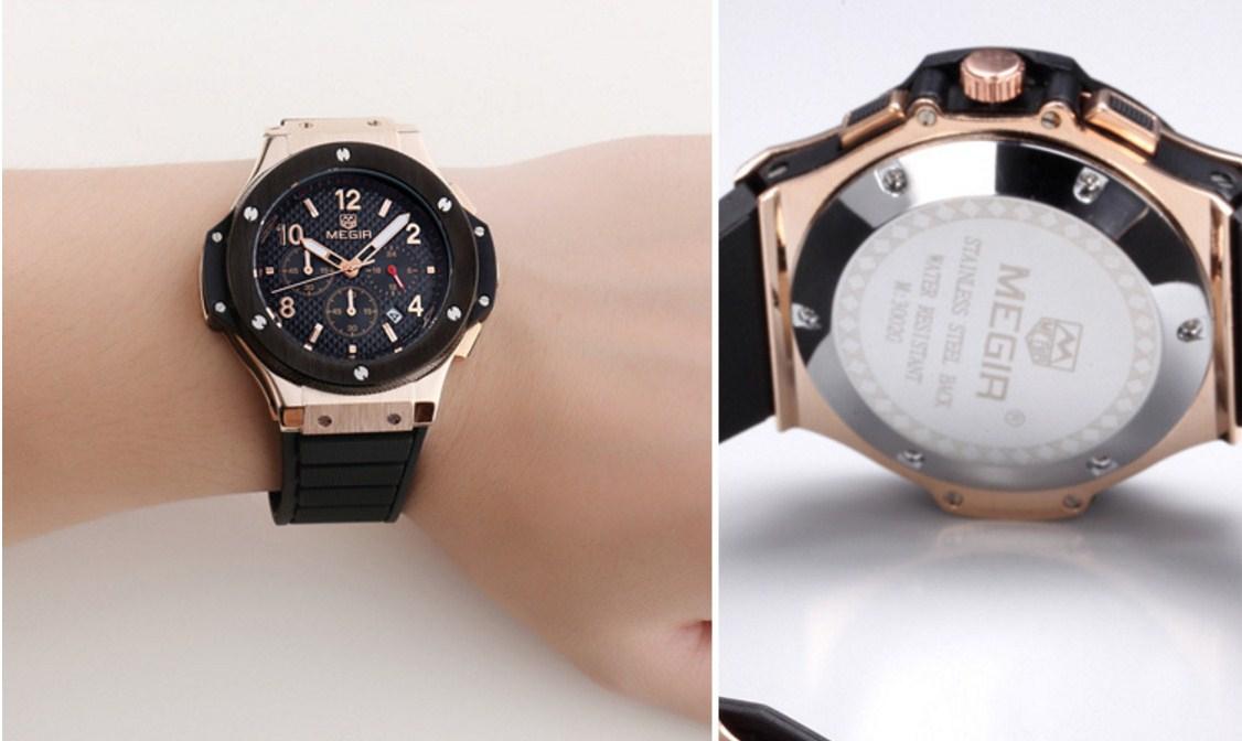 Водонепроницаемые спортивные кварцевые часы MEGIR 3002G (123-105) - 15