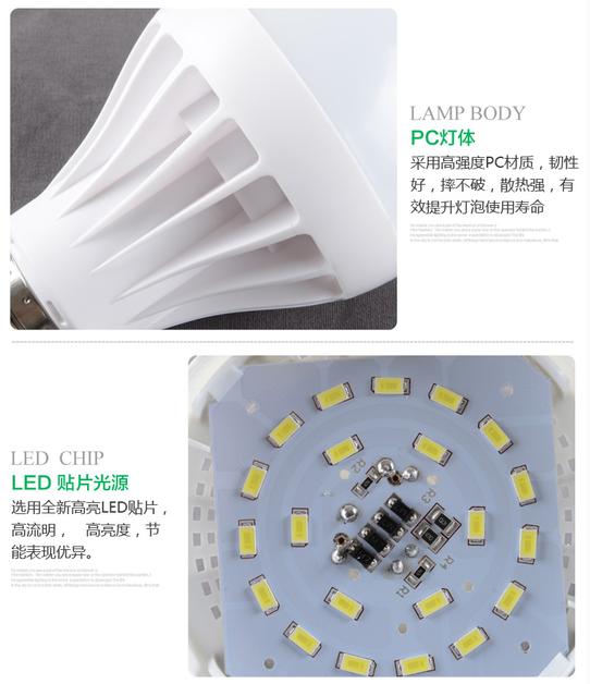 Светодиодные лампы LED-B22-E14-E27-5730 (101-201-2) - 7