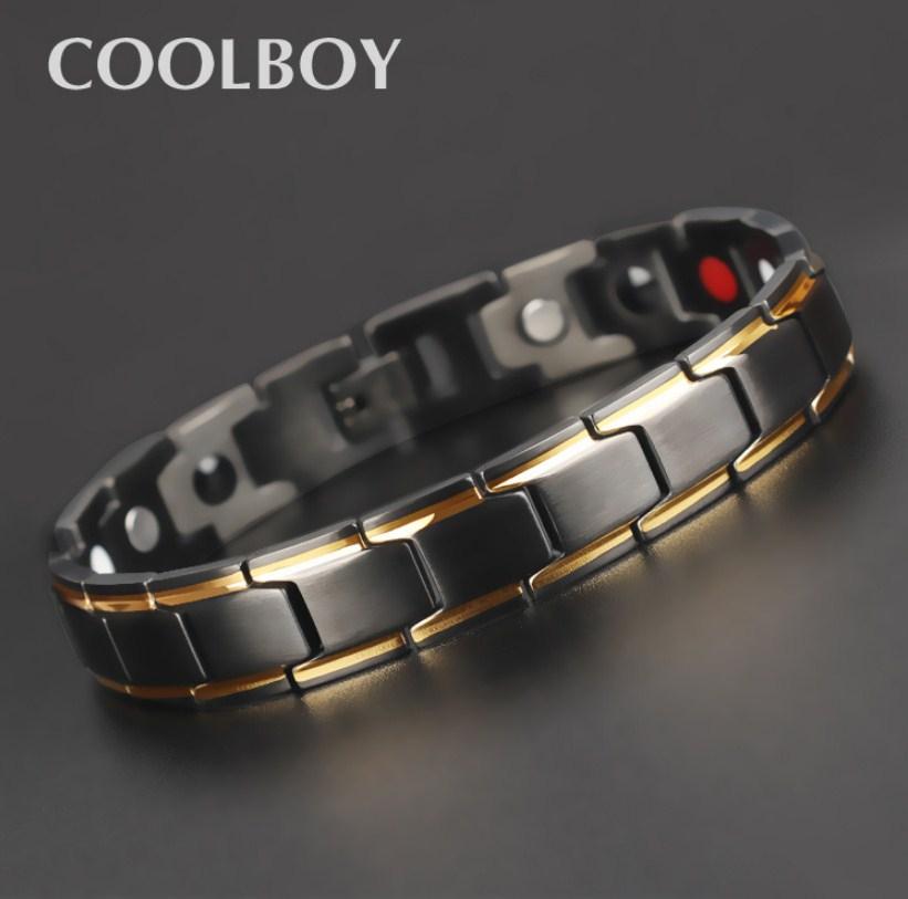 Магнитный мужской браслет из титановой стали COOLBOY (124-108) - 5