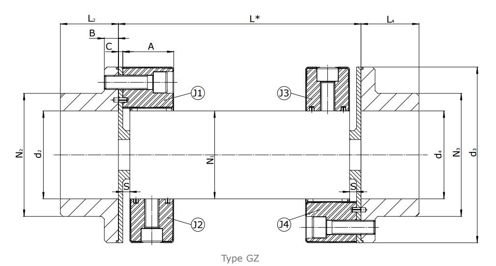 Приводной вал CENTAFLEX-A Type G / GB / GZ (118-108) - 4