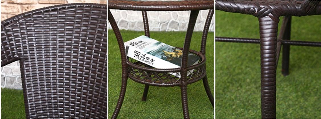 Столик и четыре кресла из ротанга Sunco (132-103) - 5
