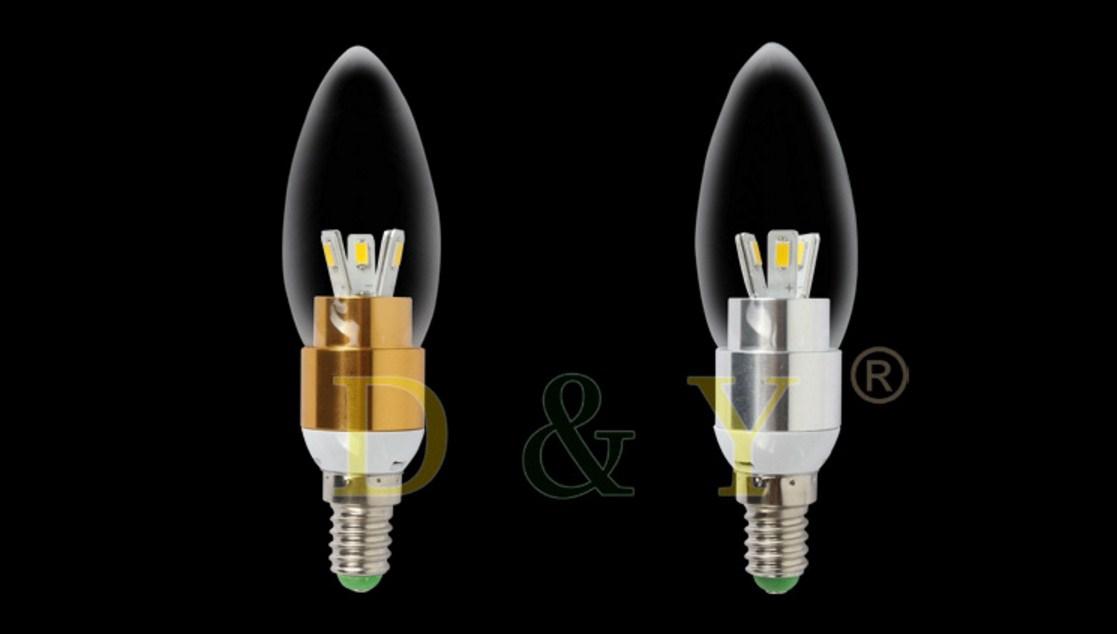 Лампа пожаробезопасная с металлическим корпусом LED-E14-5W-2835 (101-223) - 10