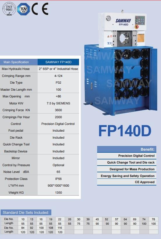 Обжимной станок РВД производственный - SAMWAY FP140D (108-163) - 2