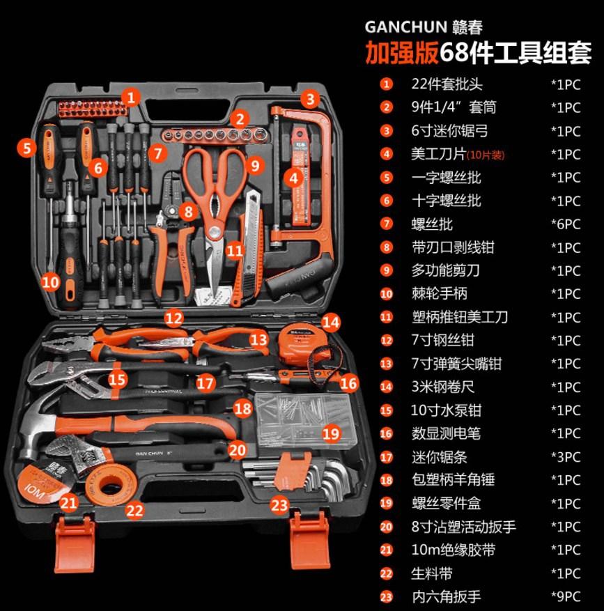 Универсальный набор инструментов GANCHUN GC-16,2 (131-114) - 5